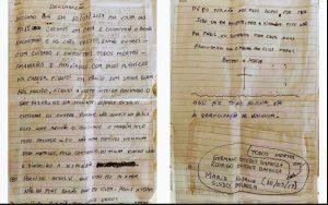 Policia encontra carta contando a história das ossadas humanas encontradas enterradas em um casa de Itaboraí