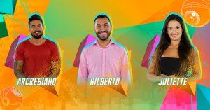 Arcrebiano x Gilberto x Juliette: formam o segundo Paredão do 'BBB21'