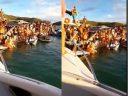 Mesmo sendo proibido, turistas aglomeram em Cabo Frio