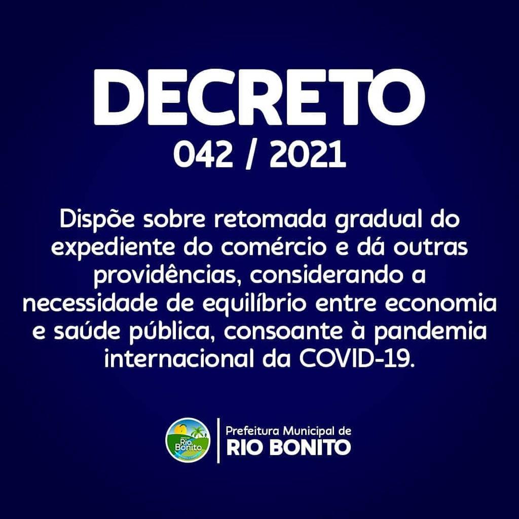Confira o novo decreto de Rio Bonito