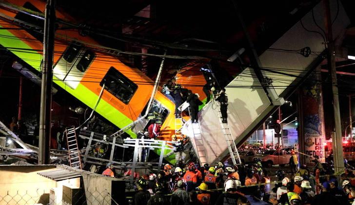 Acidente no metrô do México deixa cerca de 23 pessoas mortas e 70 feridas. Veja fotos