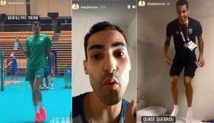 Atleta da Seleção Brasileira de Vôlei, Douglas Souza, 'bomba' nas redes sociais mostrando os bastidores das Olimpíadas de Tóquio