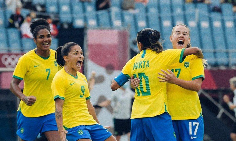 Seleção feminina estreou com goleada de 5a 0 contra a China