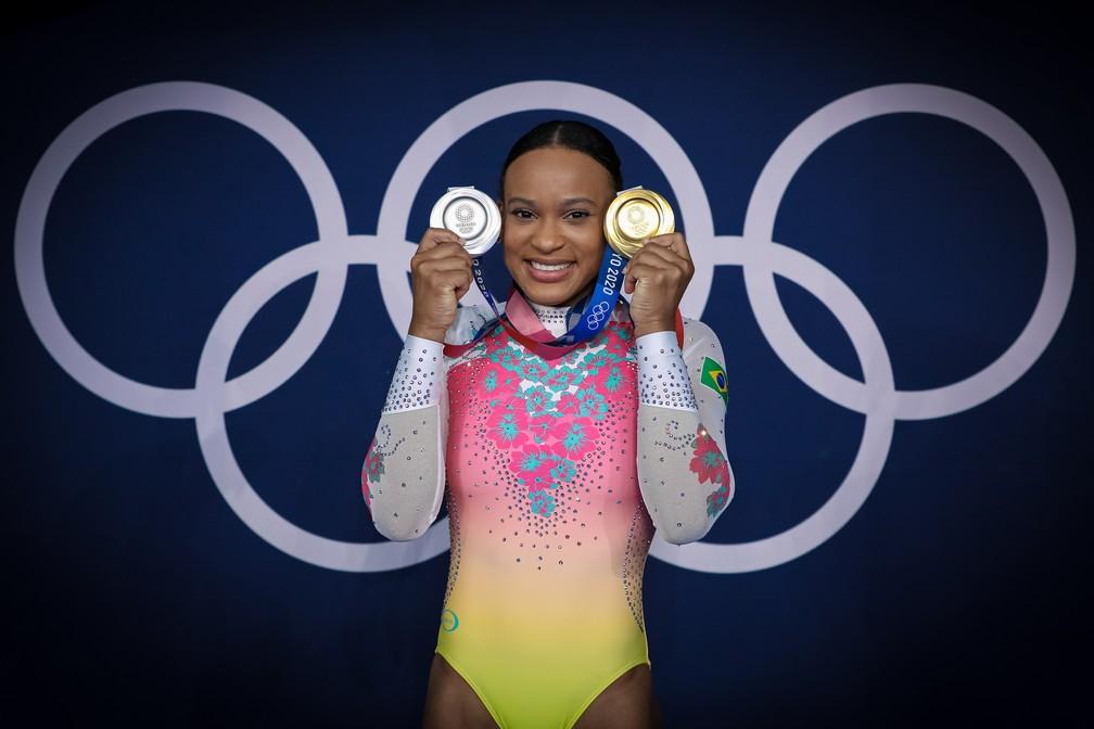 Rebeca Andrade será porta-bandeira do Brasil em cerimônia de encerramento das Olimpíadas