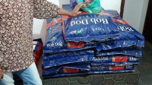 Protetora de cães e gatos de Saquarema arrecada 800 kg de ração para animais abandonados
