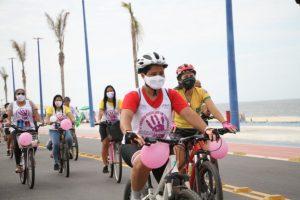 Primeiro Passeio Ciclístico em Itaipuaçu, Maricá, é marcado pela luta contra o feminicídio