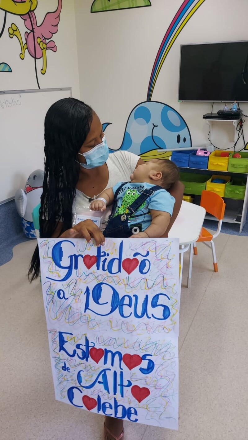 Mãe e bebê que estavam internados há mais de quatro meses têm alta médica, em SG