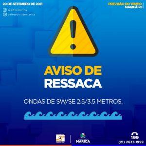 Alerta: Ressaca atinge o litoral de Maricá a partir desta terça-feira (21)