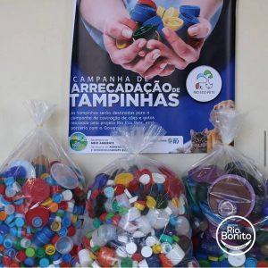 Prefeitura de Rio Bonito arrecada tampinhas para castração de animais resgatados; em parceria com o Projeto Rio Eco Pets