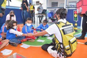Alunos da rede municipal de ensino de Maricá participam de oficina sobre educação no trânsito