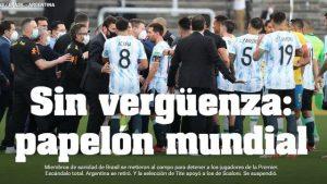 Suspensão de Brasil x Argentina é alvo de críticas da imprensa internacional