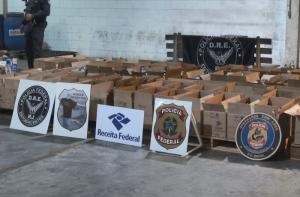 Polícia Federal faz a maior apreensão de cocaína da história do RJ. As 5 toneladas da droga estavam em caixas de sabão em pó