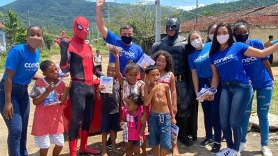 Caravana da Conect Internet leva alegria às crianças de Maricá e Tanguá