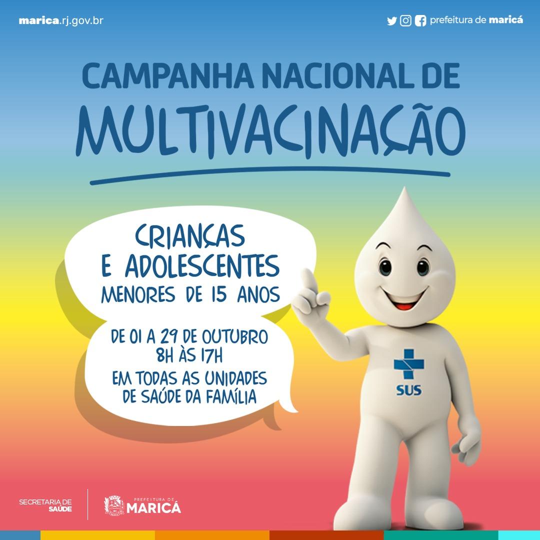 Maricá promove Dia D de Multivacinação para crianças e adolescentes neste sábado