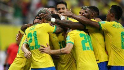 Brasil goleia Uruguai por 4 X 1 e fica mais perto da vaga para Copa de 2022